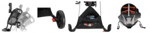 CaddyTek EZ Fold 3 Wheel Golf Push Cart