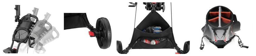 CaddyTek EZ Fold 3 Wheel Golf Push Cart