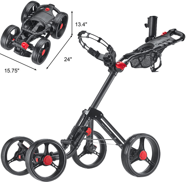 CaddyTek Superlite Explorer 4 Wheel Golf Push Cart
